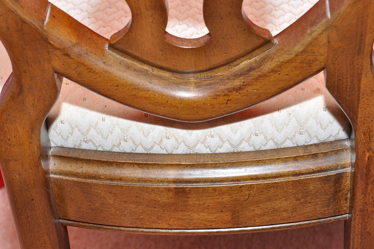 Set Of Six Shield Back Dining Room Chairs Ebth