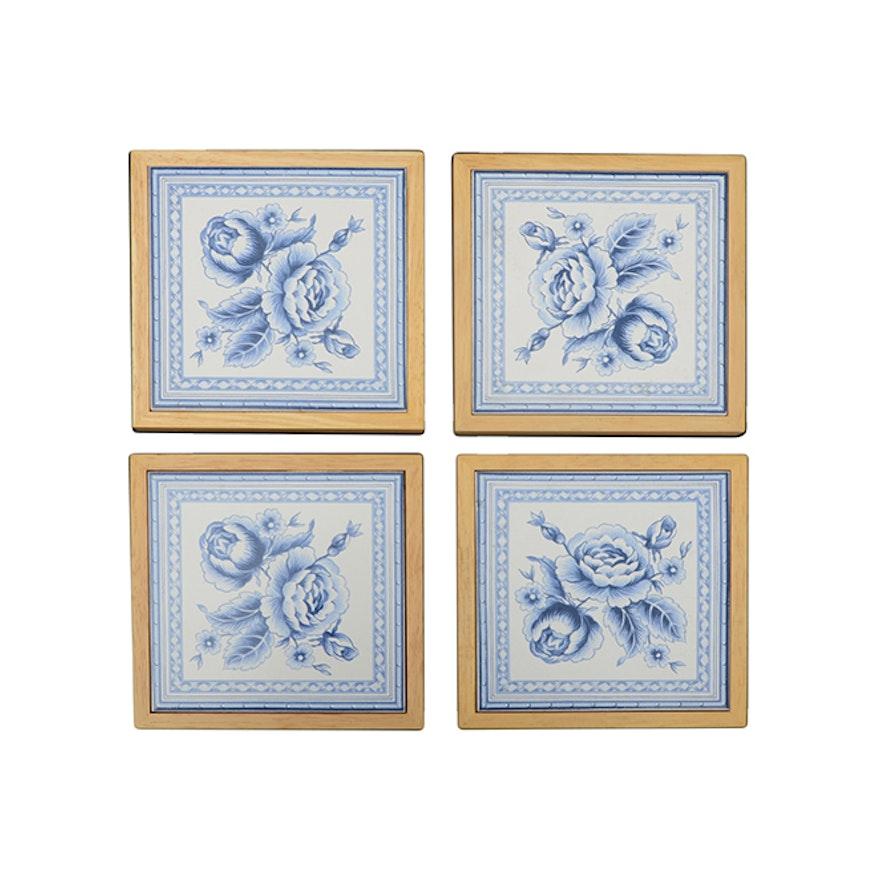 Kimgres Decorative Ceramic Tile Trivets
