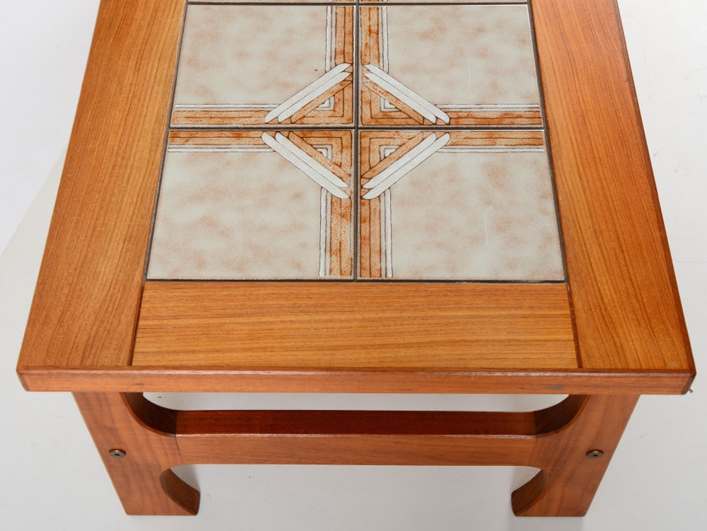 Danish Teak Tile-Top Coffee Table | EBTH