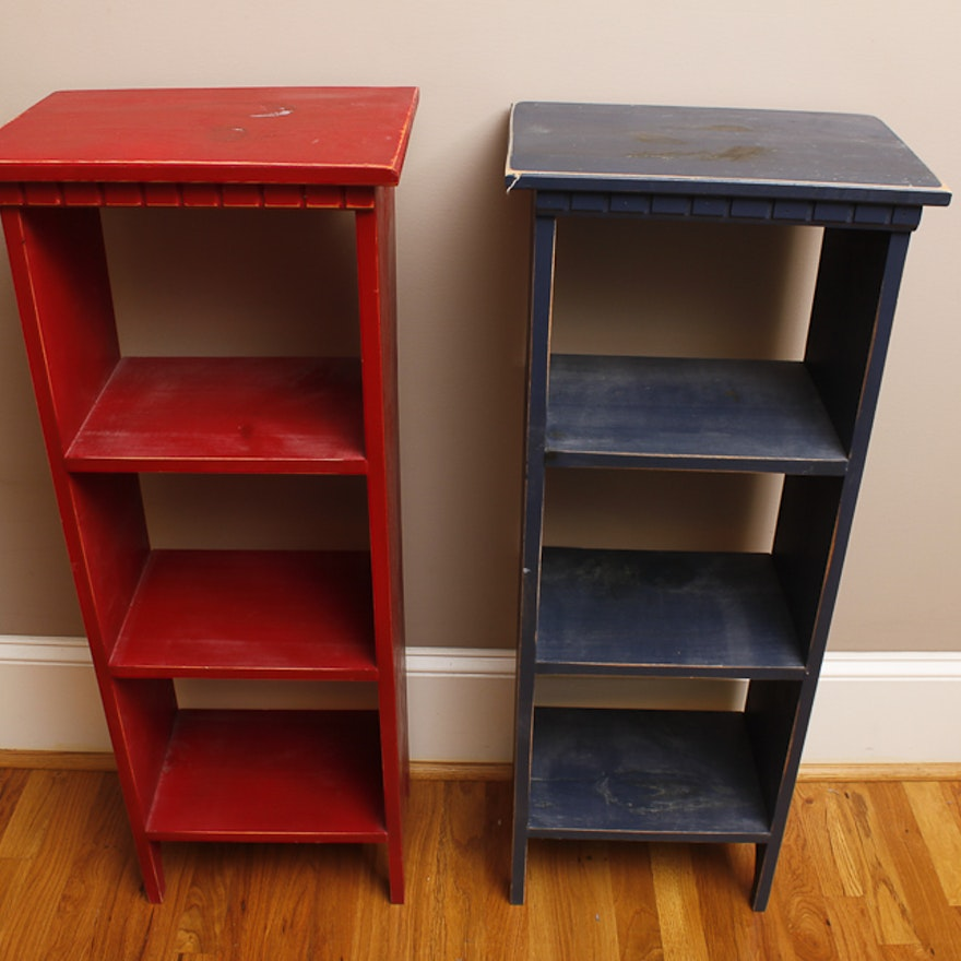 Pair of Distressed Shelves
