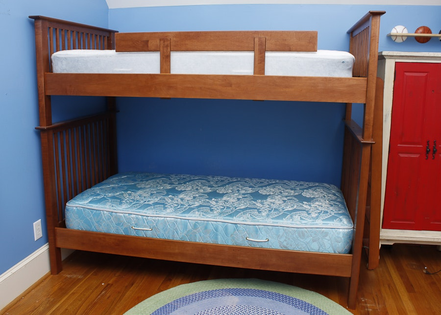 nadeau twin size bunk bed frame