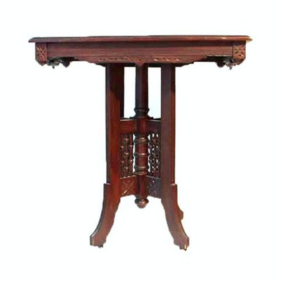Vintage tables antique tables and retro tables auction in antique victorian walnut lamp table mozeypictures Images