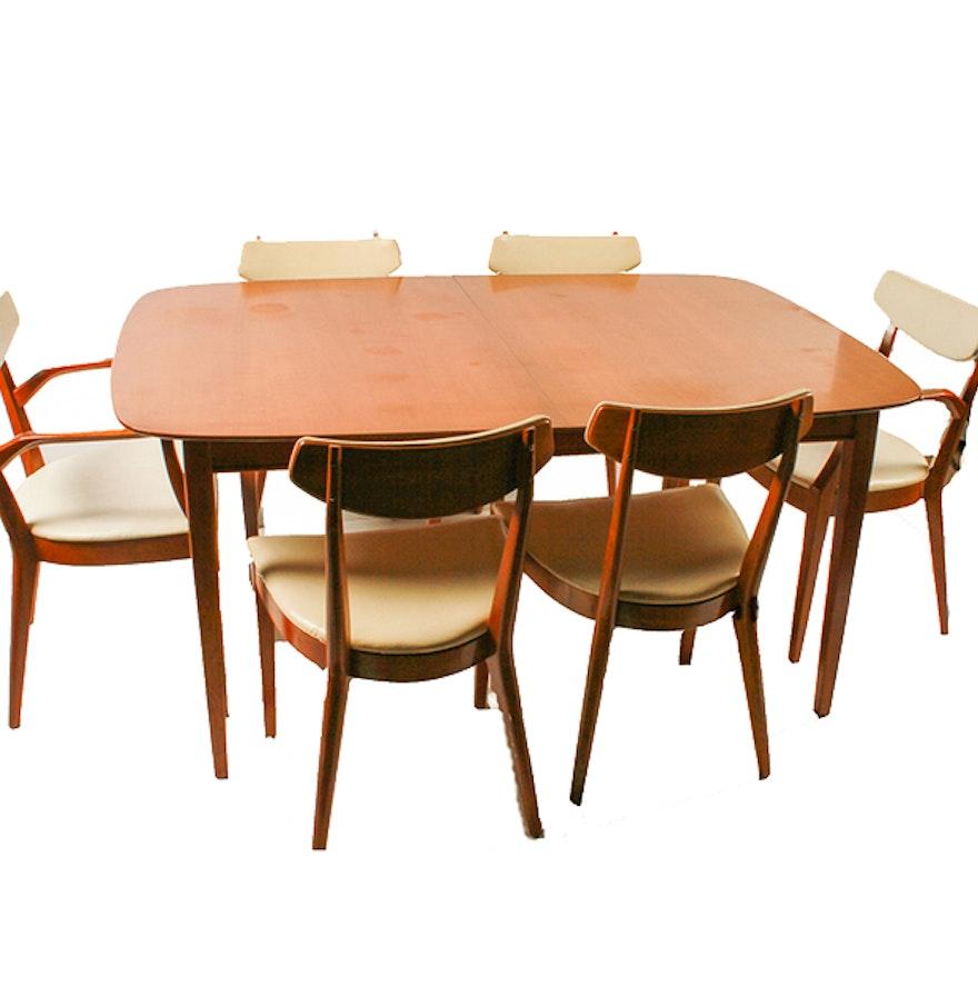 Mid Century Modern Kipp Stewart For Drexel Dining Table Set