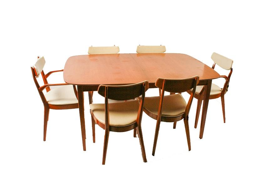 Mid Century Modern Kipp Stewart For Drexel Dining Table Set ...