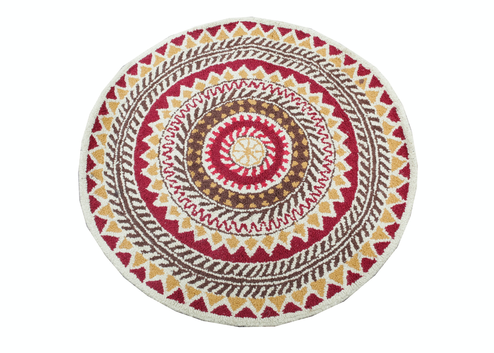 Pier One Quot Tapis Quot Small Round Rug Ebth