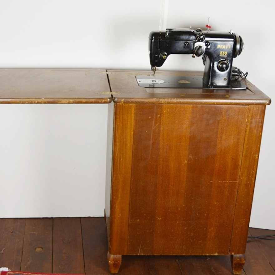 Pfaff 40 Sewing Machine And Cabinet EBTH Gorgeous Pfaff 230 Sewing Machine For Sale