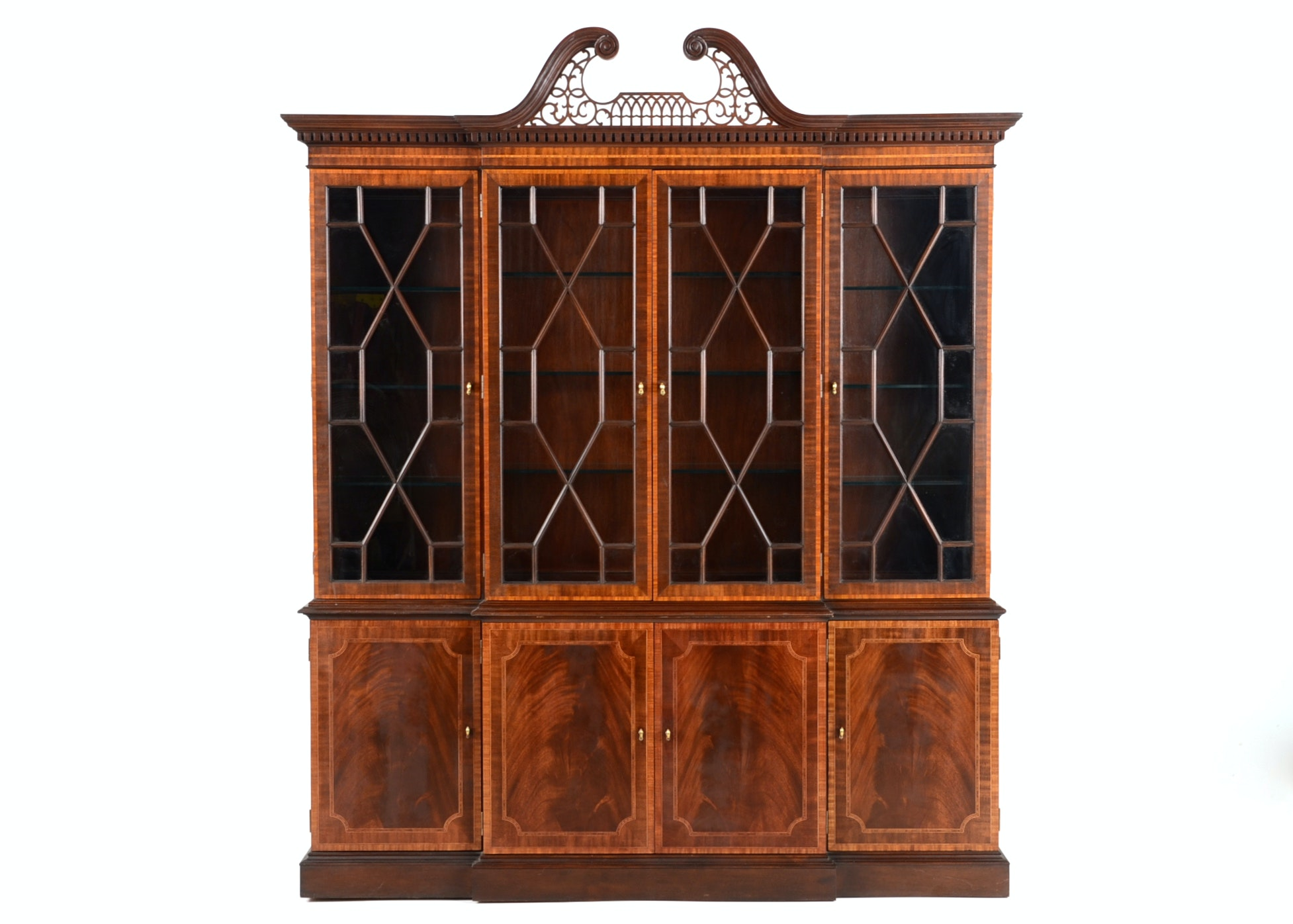 Council Craftsman Breakfront China Cabinet ...