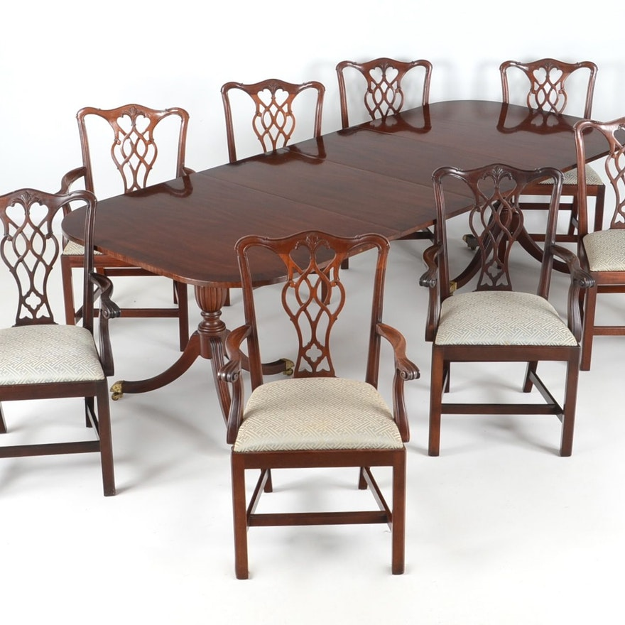Council Craftsman Dining Table And Eight Chairs
