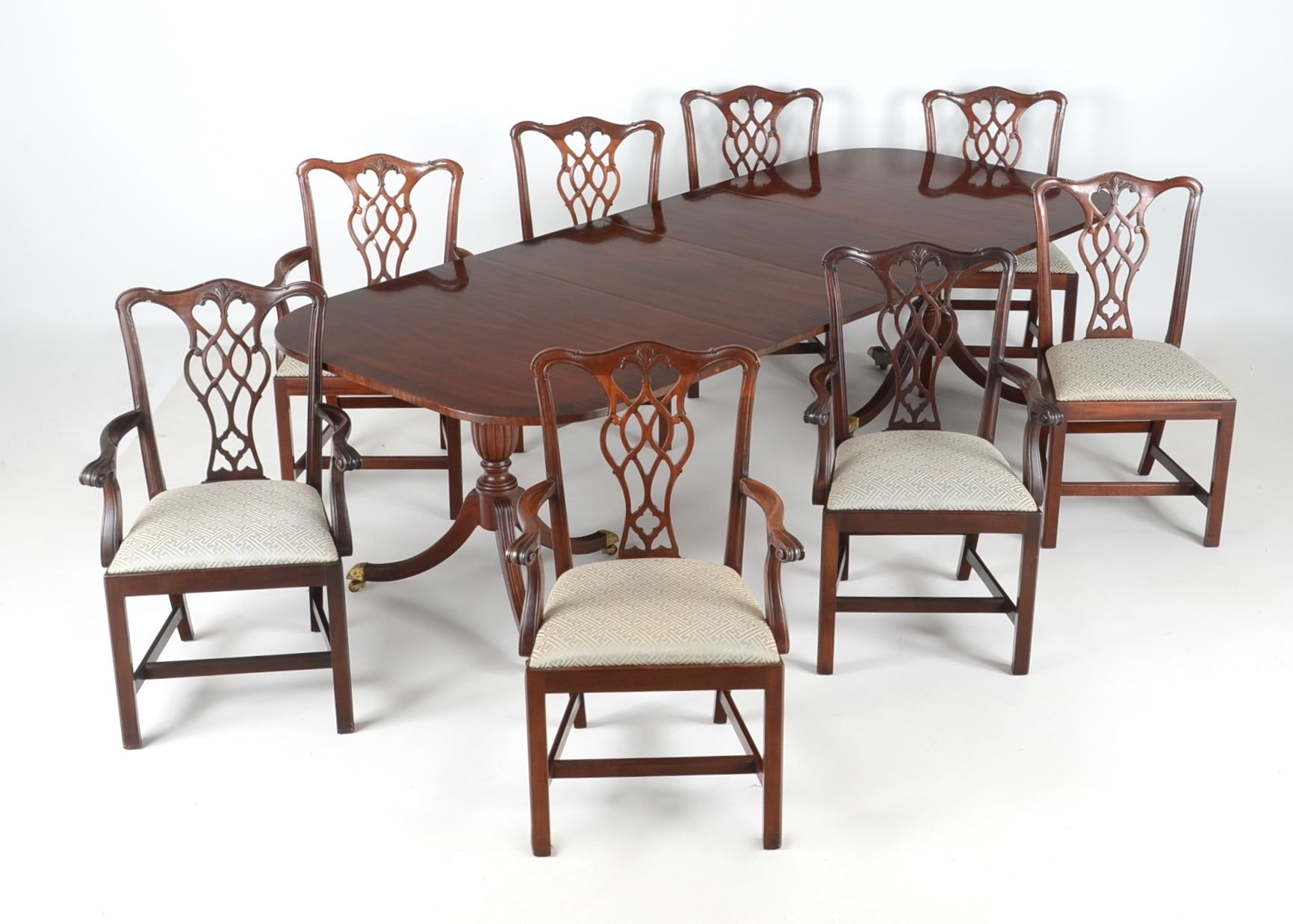 Council Craftsman Dining Table And Eight Chairs ...