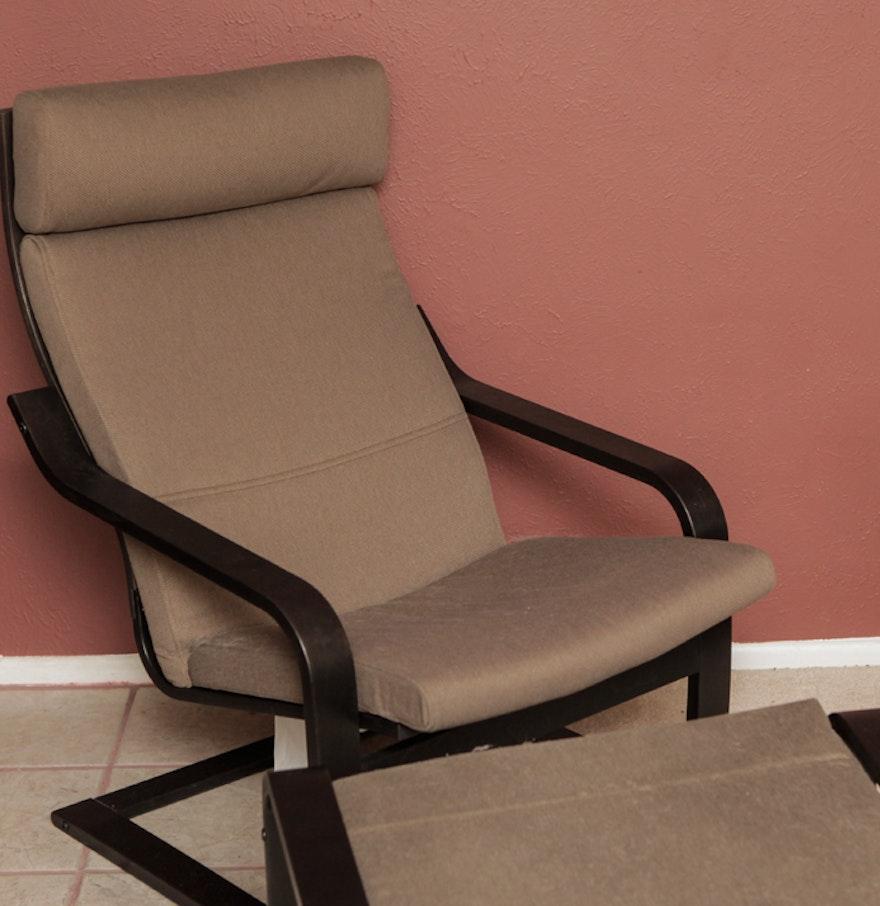 Ikea Poang Chair And Ottoman Ebth