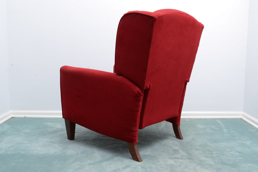 Red Wingback Recliner Chair Ebth