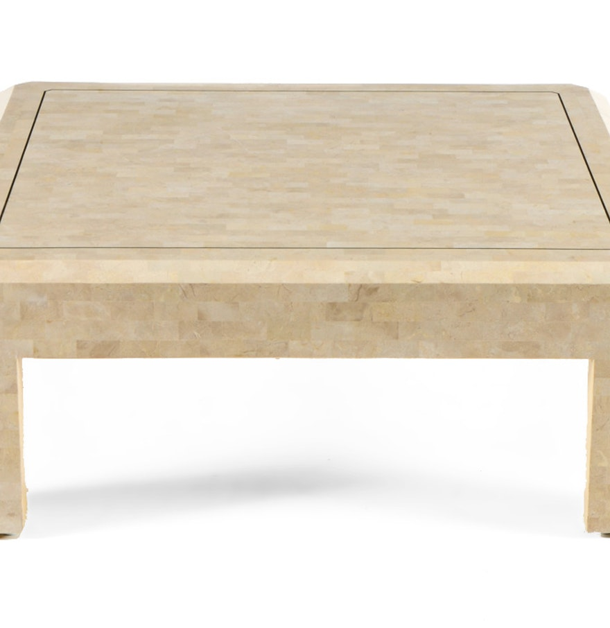 Maitland Smith Coffee Table In Tessellated Marble Ebth