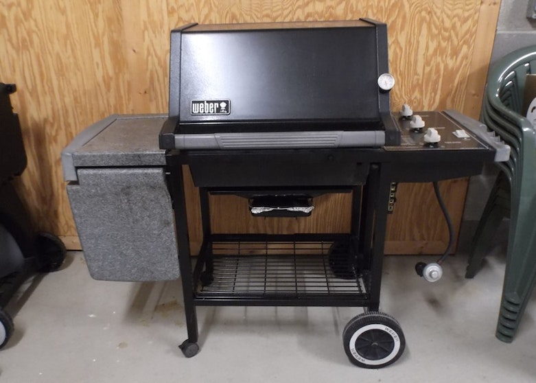 Weber Grill Silver 8103 With Weber Rotisserie 9890 And