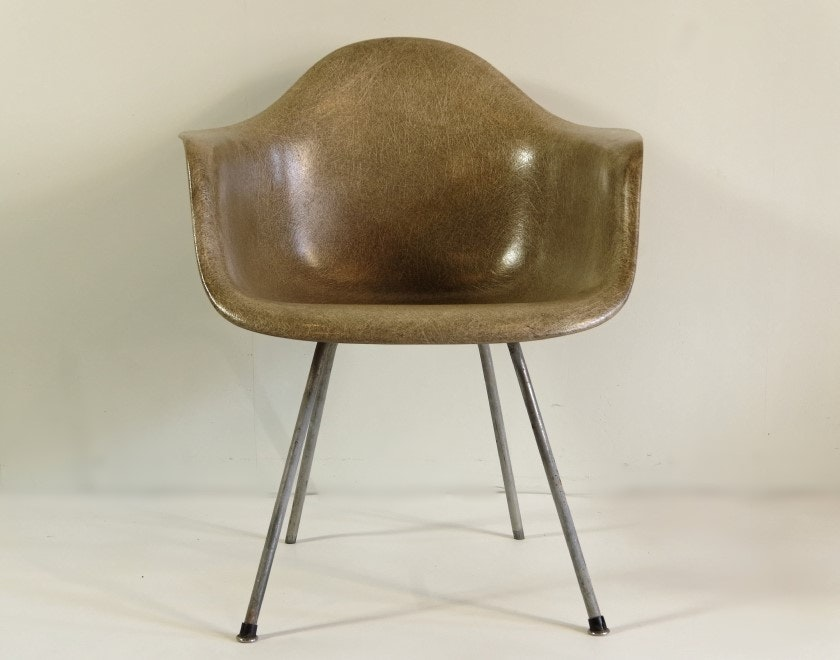 Eames Zenith Fiberglass Armchair With Rope Edge For Herman