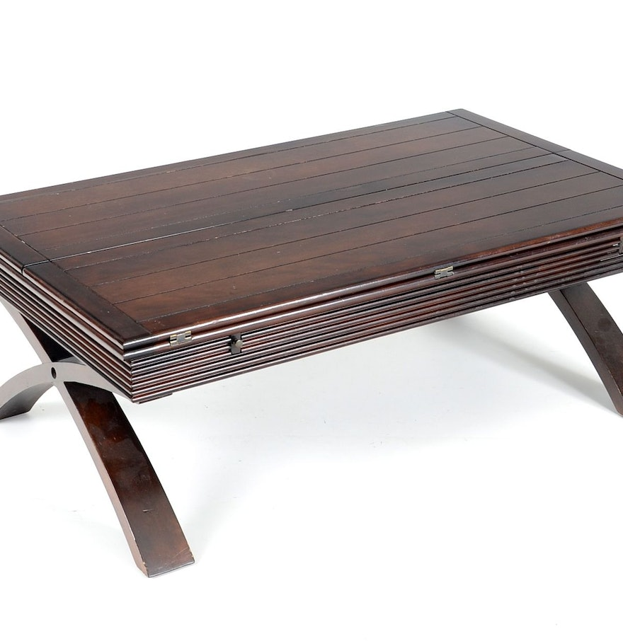 Wood Flip Top Coffee Table Ebth