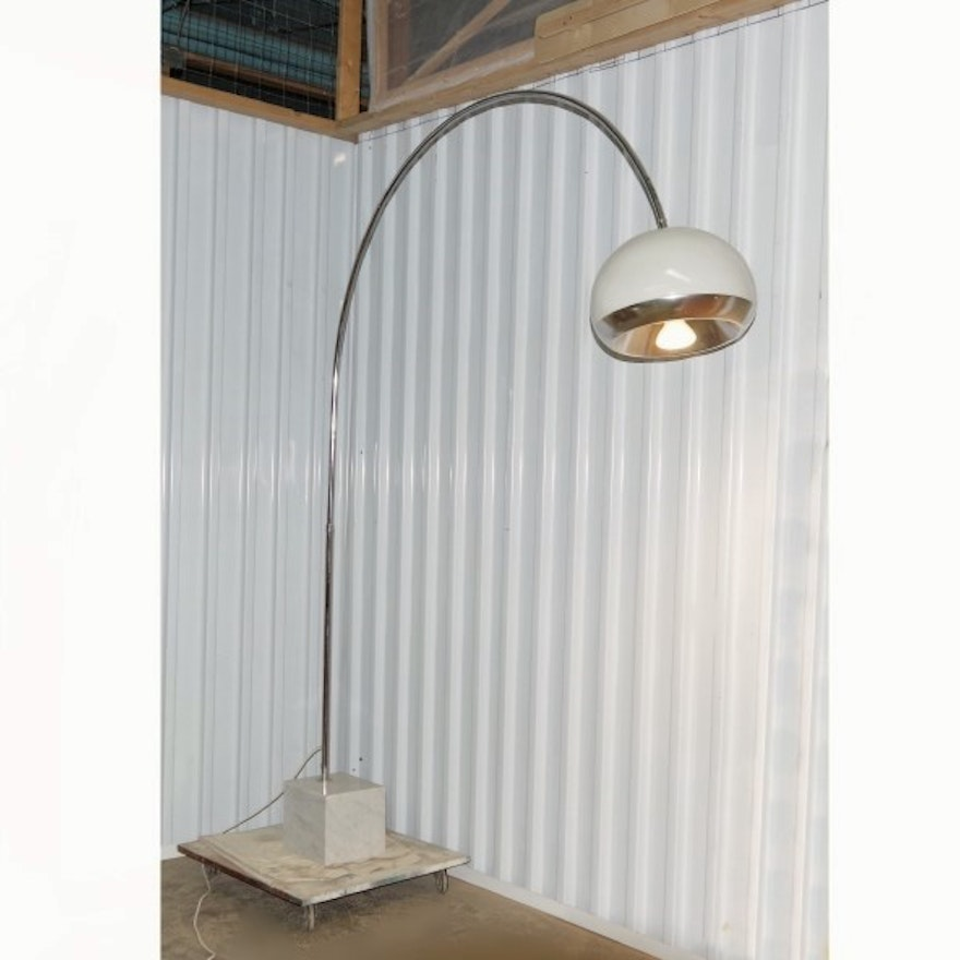 Mid Century Arc Lamp Harvey Guzzini For Laurel Ebth