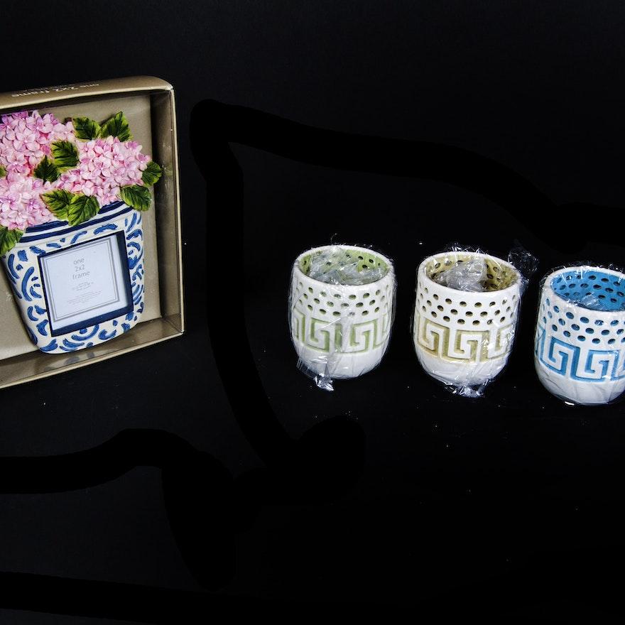Avon Votive Holder and Decorative Frame