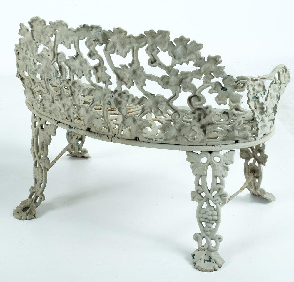 Vintage Cast Iron Patio Furniture Set Ebth
