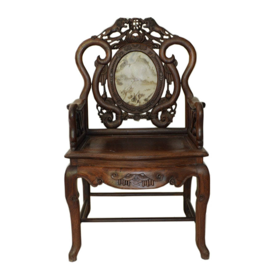 Antique Chinese Throne Chair ... - Antique Chinese Throne Chair : EBTH