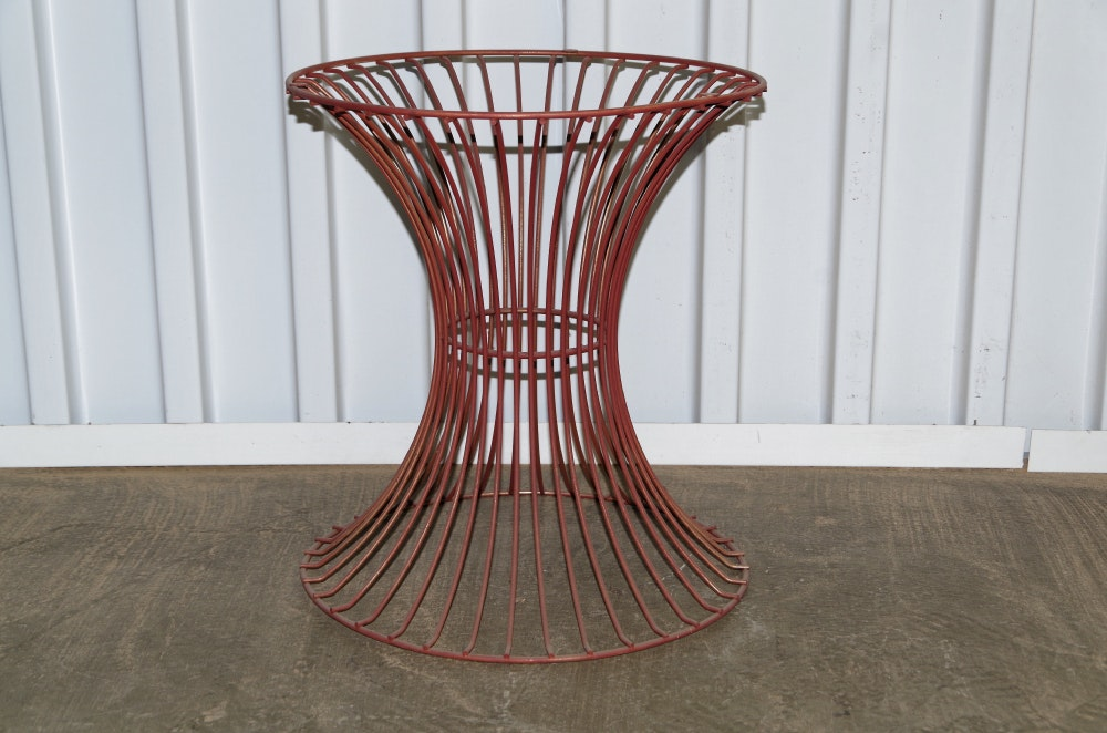 Red wire table wire center platner mid century red wire table base ebth rh ebth com wire resistance table wire table legs greentooth Images