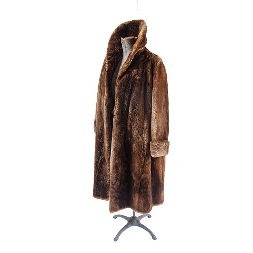 Three Quarter Length Otter Coat