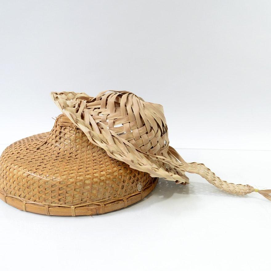 154014ba6dd Pair of Wicker Hats   EBTH