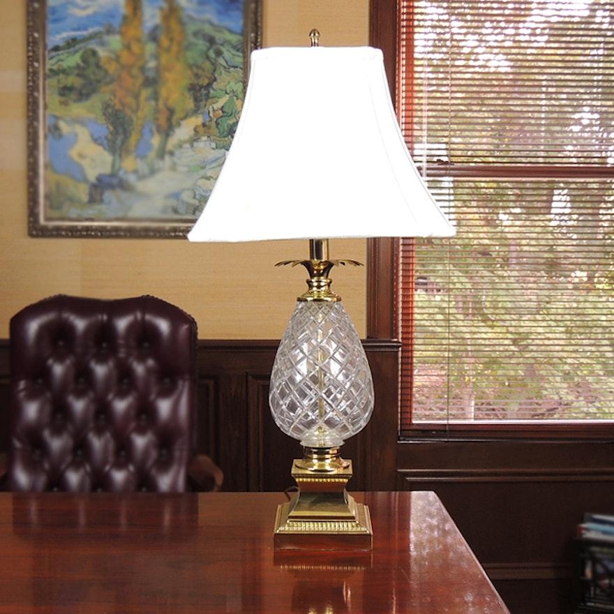 Crystal Pineapple Table Lamp Ebth