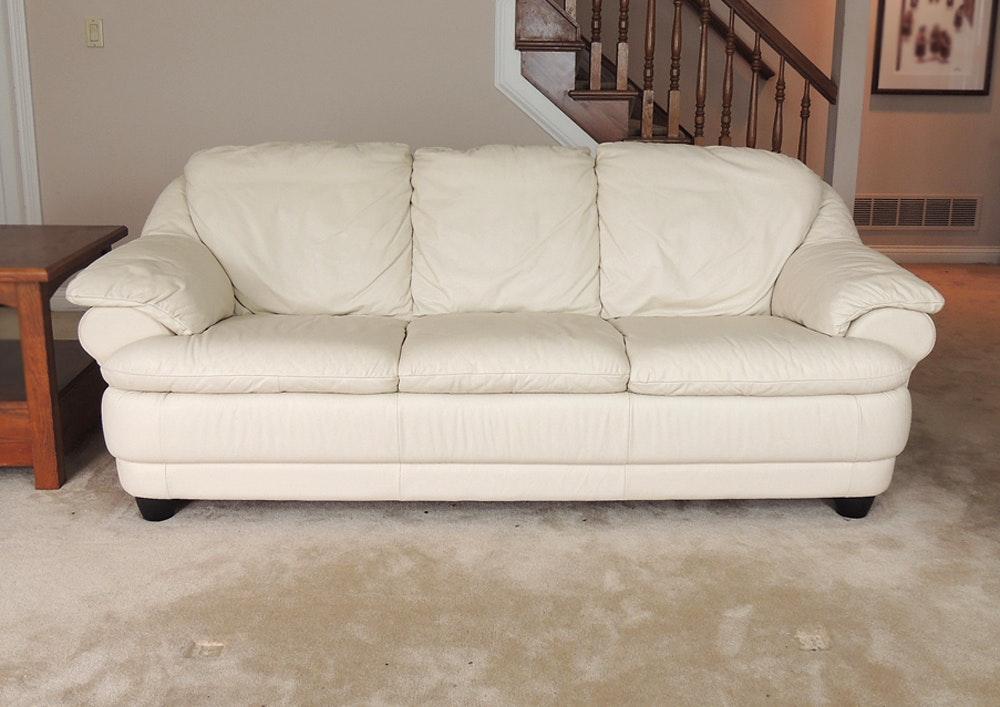 Off White Leather Sofa ...
