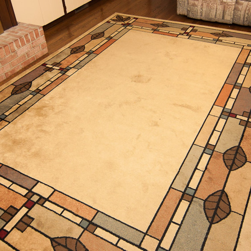 Area Rug With Stained Glass Design Ebth