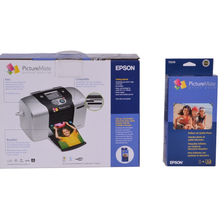 New Epson Picture Mate Personal Photo Printer And Ebth