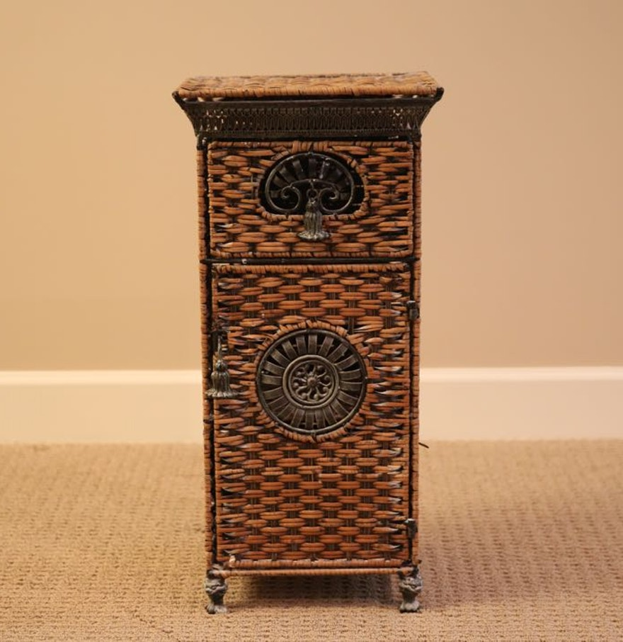 wicker bath cabinet ebth