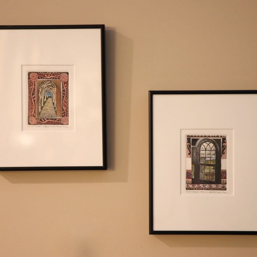 Hand-Colored Etchings by Lyndia Terre