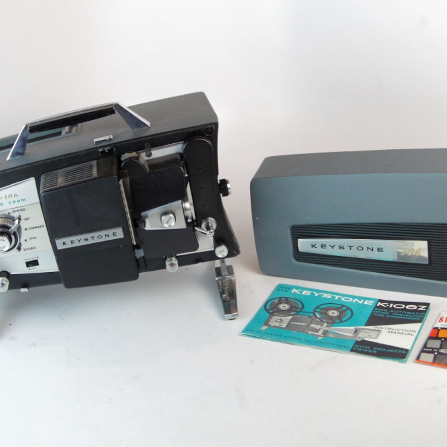 Keystone 8mm Movie Projector and Manual