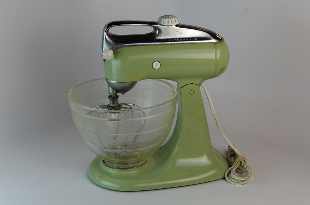 Vintage Kitchenaid Mixer In Sage Green ...