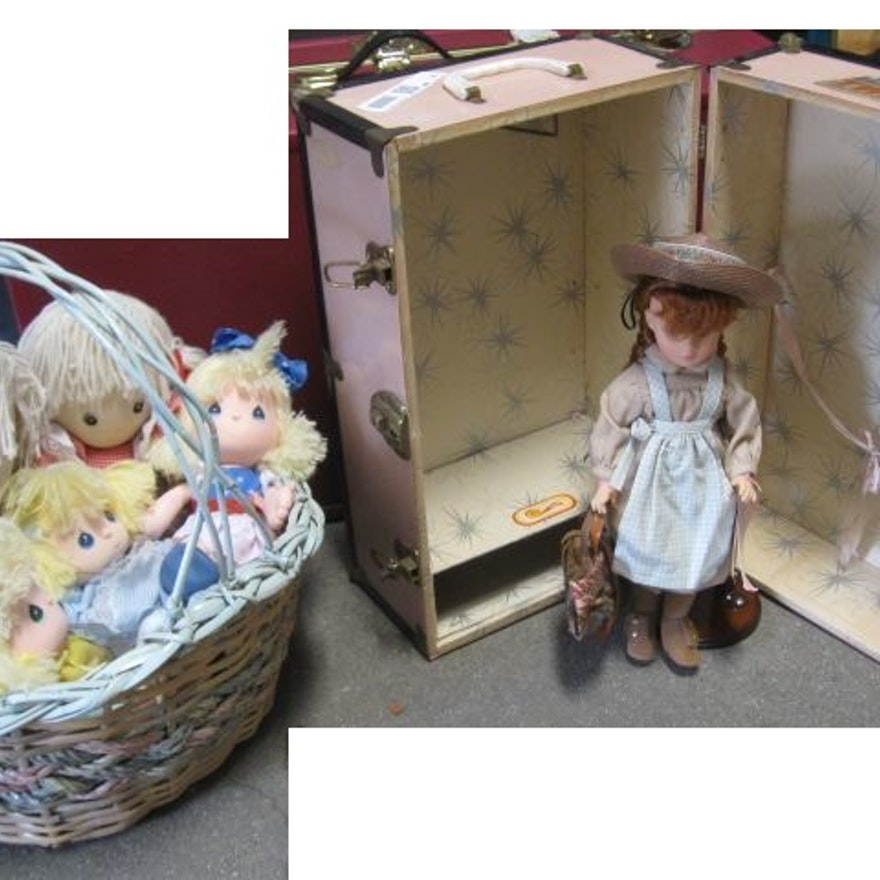 Anne of Green Gables Doll in Pink Toy Trunk
