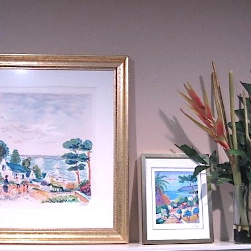 Pair of Colorful Jean-Claude Picot Prints