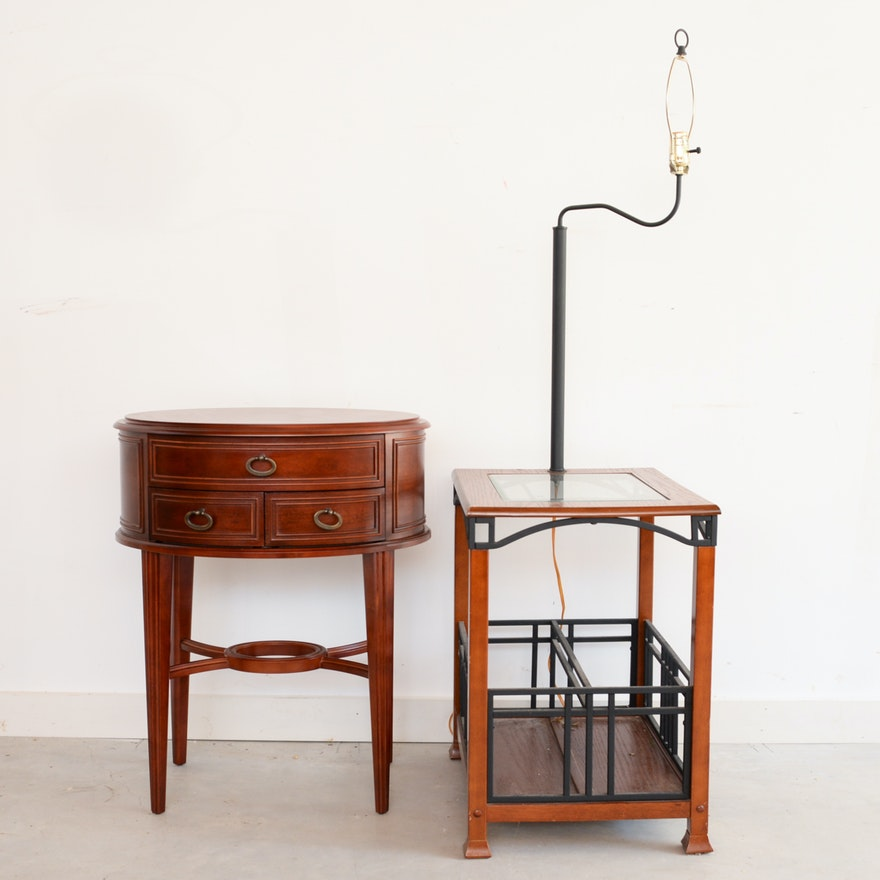 Contemporary Lamp Table and Occasional Table