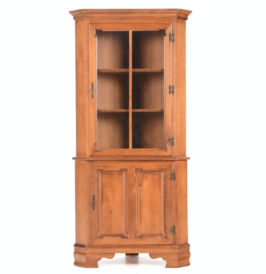 Vintage Corner Cabinet Vintage Tell City Maple Corner Cabinet Ebth