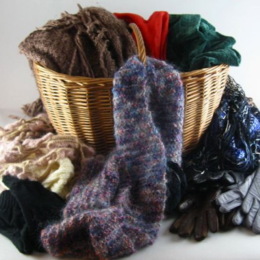 Basket of Wraps and Gloves