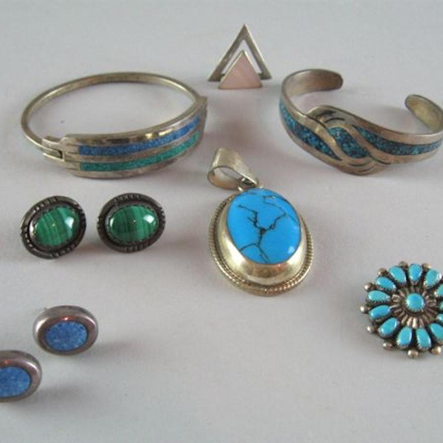 Sterling and Semi Precious Gemstone Jewelry