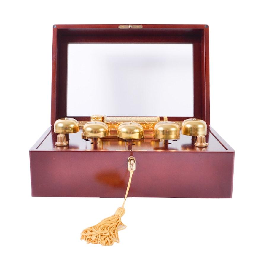 "Gold Label Collection Mahogany ""Mr. Christmas"" Music Box ..."