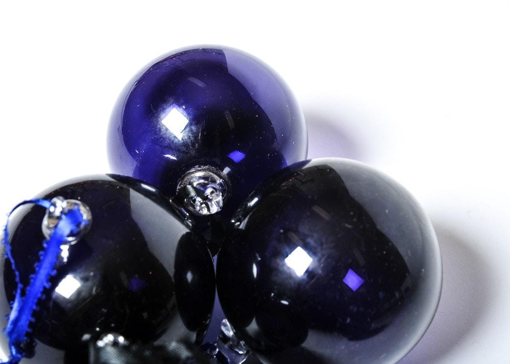 Amethyst Glass Ornaments