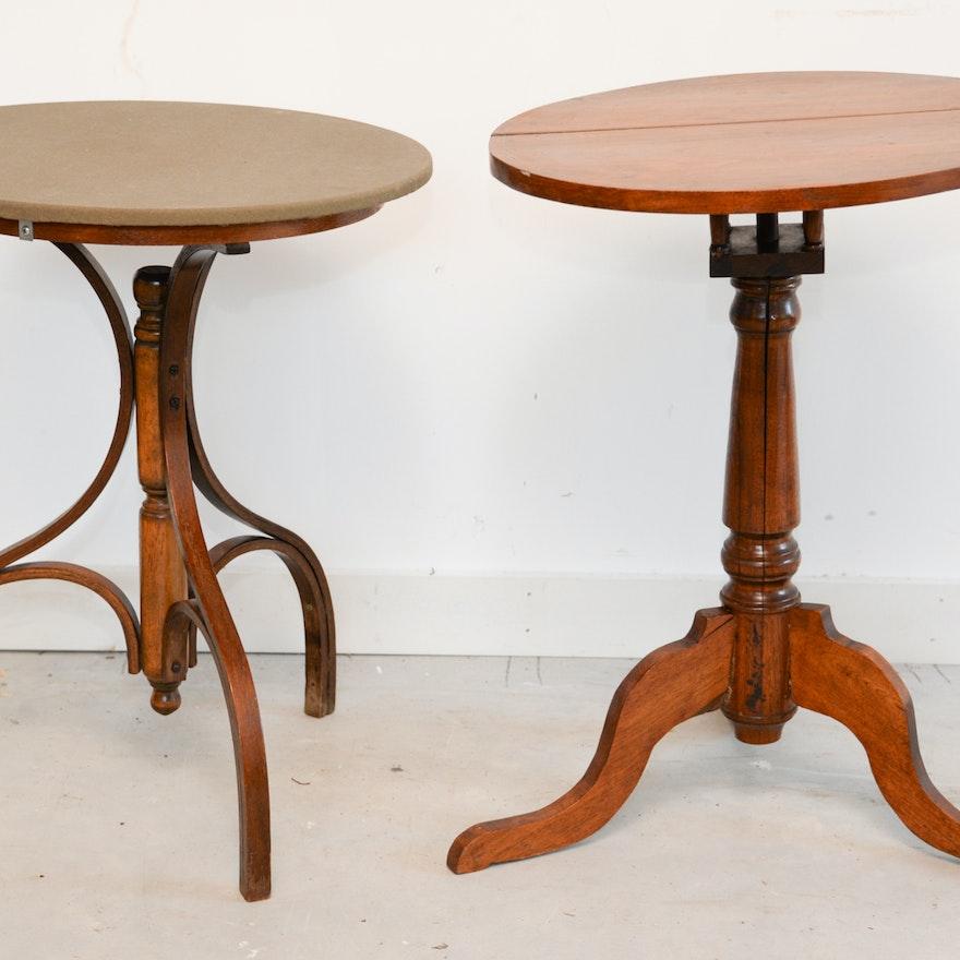 Vintage Wood Accent Tables