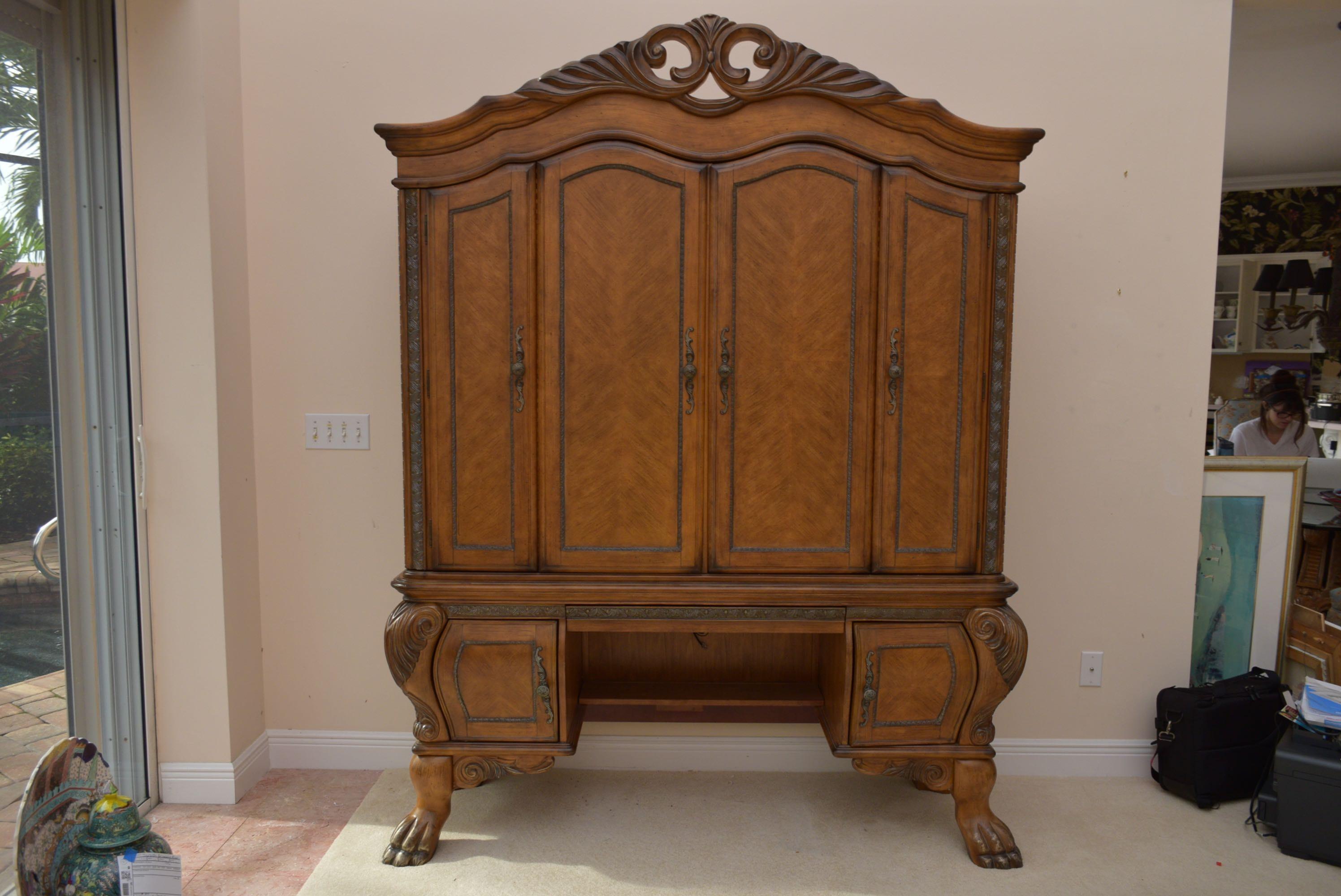 michael amini hutch desk for aico furniture