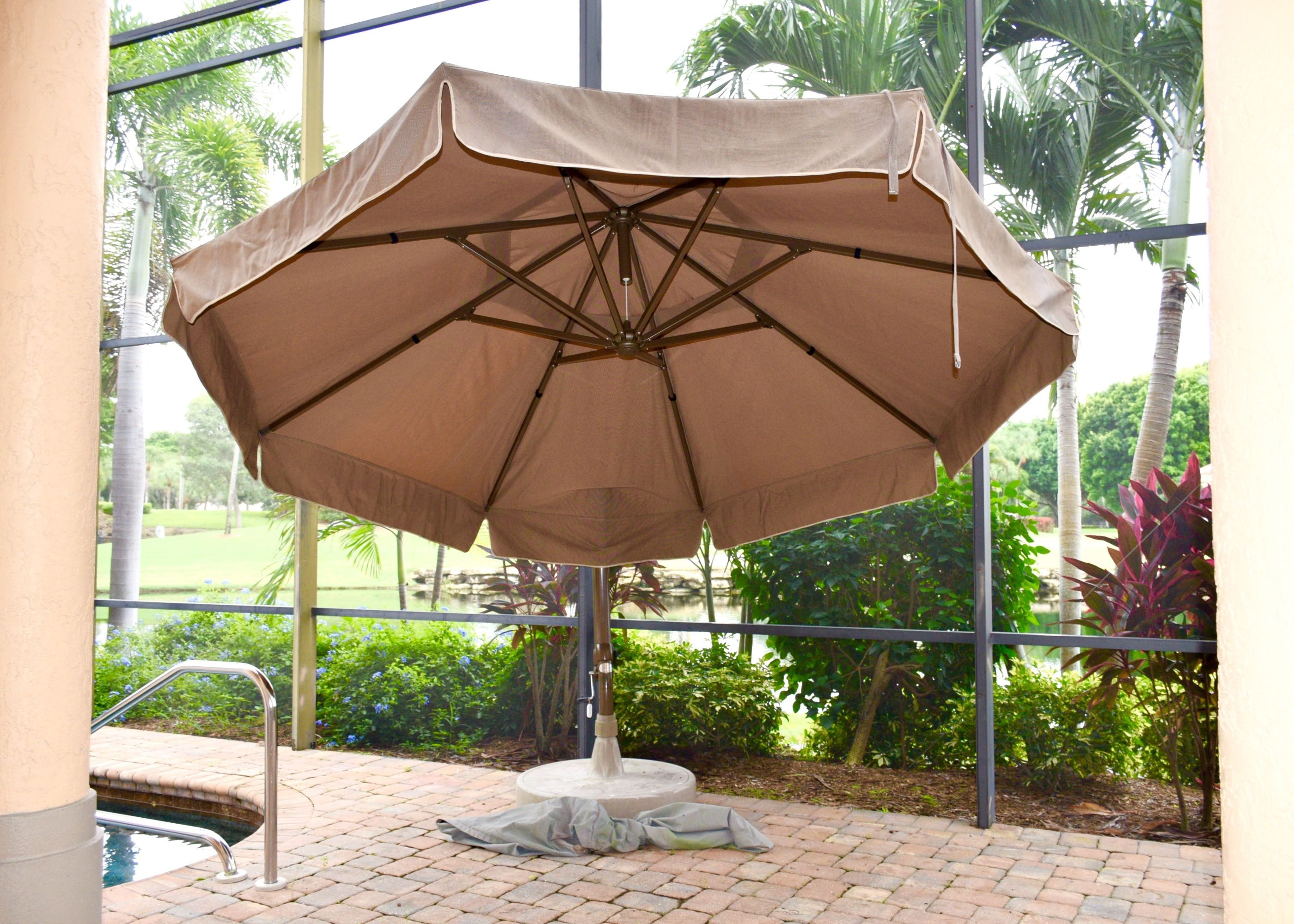 Superb Sun Garden Tan Parasol Umbrella ...