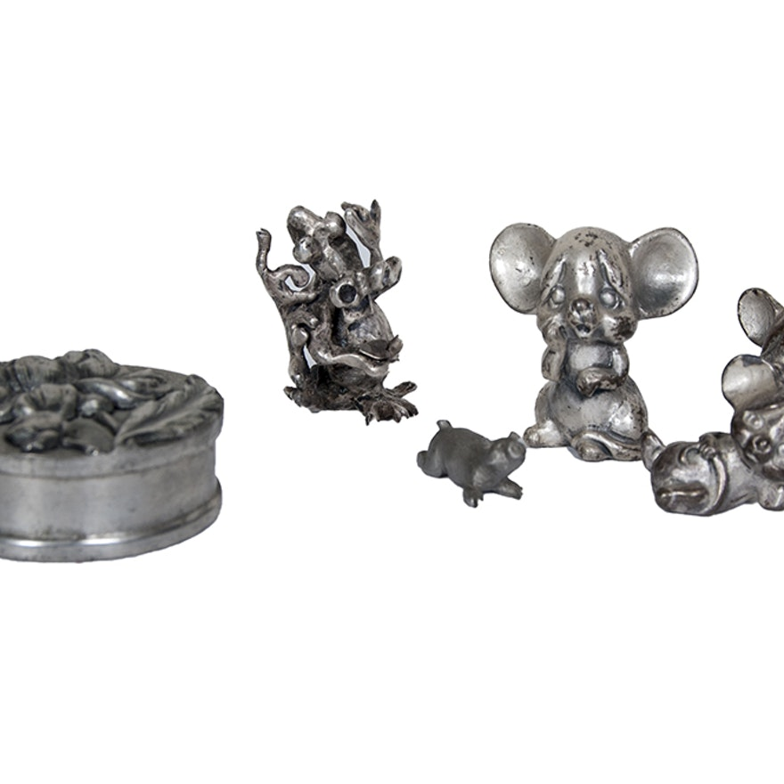Collection of Pewter Figurines