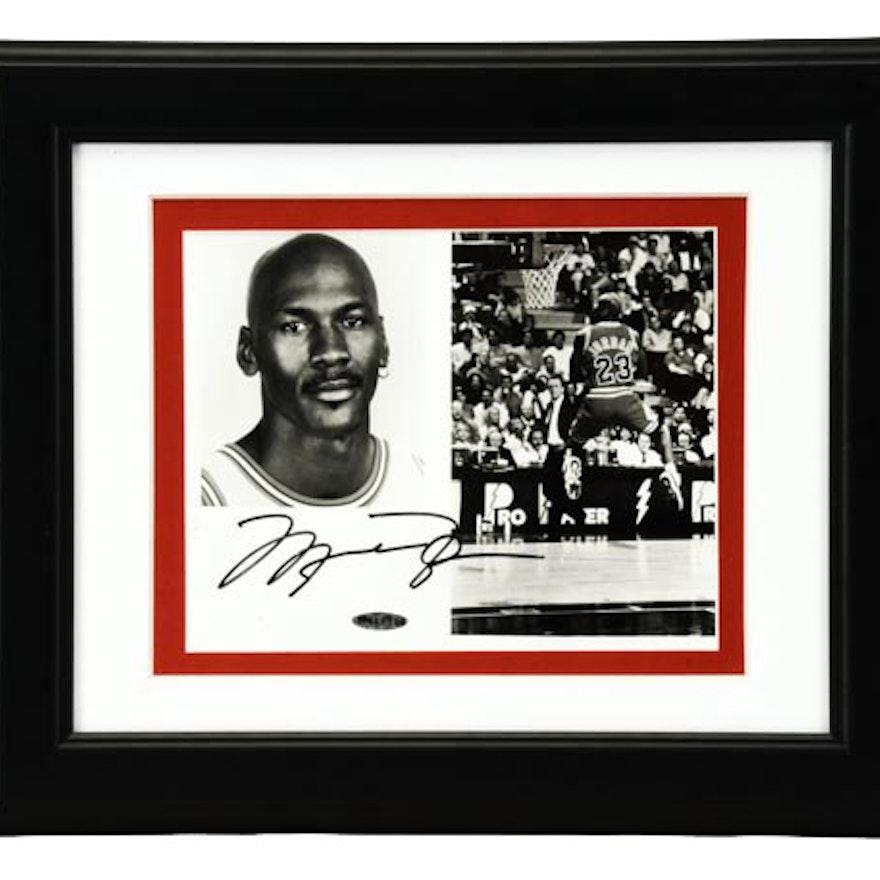 eef75cfc2b9ca5 Michael Jordan Signed Framed Upper Deck Item   EBTH
