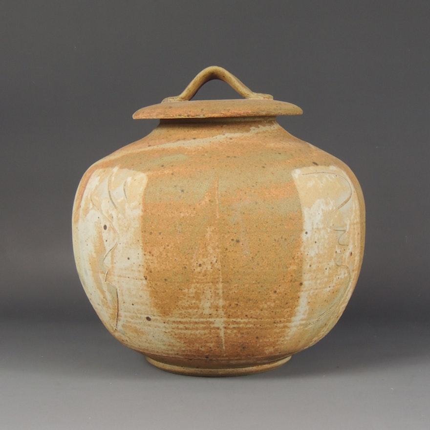 Handcrafted Stoneware Art Pottery Jar By Rick Mckinney Ebth