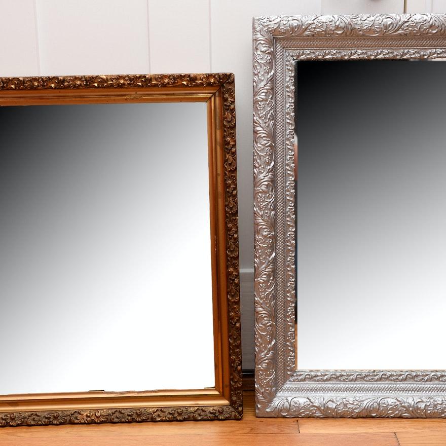 Two Ornately Framed Mirrors