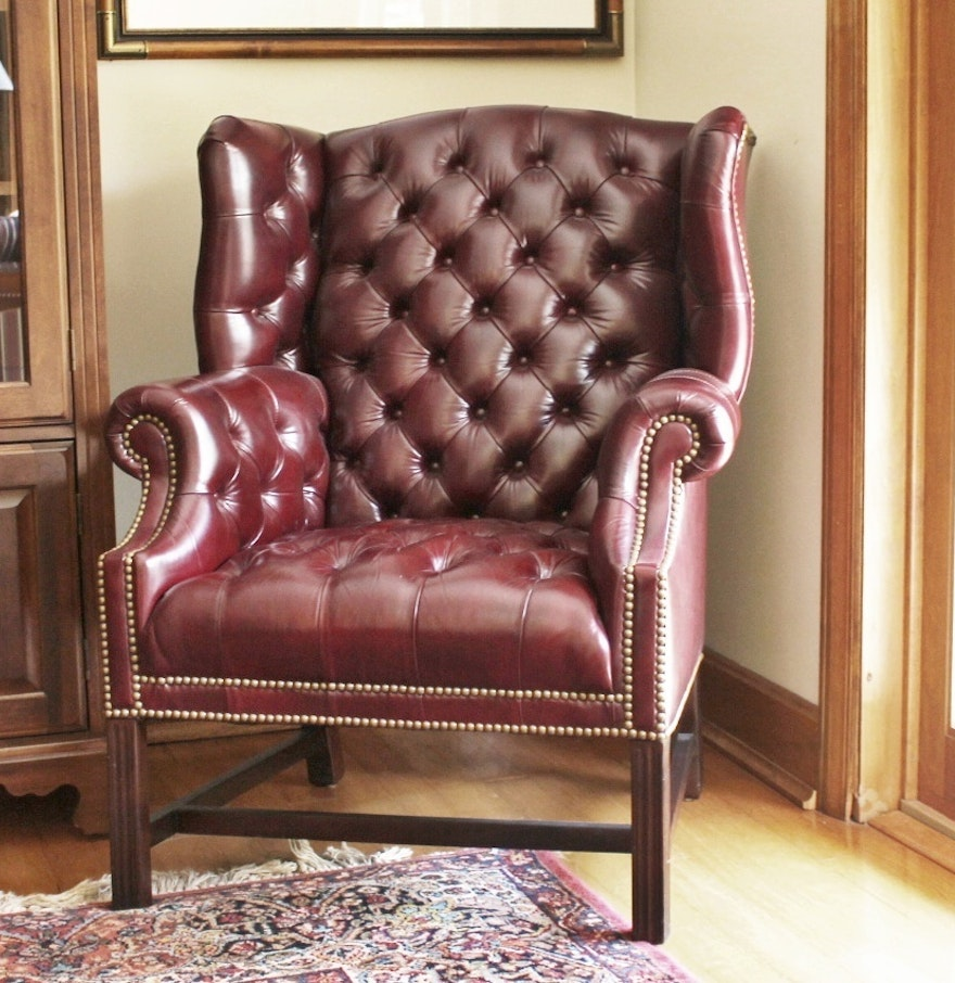 Leather Wingback Chair For Sale Vintage Chairs Antique Chairs And Retro Chairs Auction In Batavia